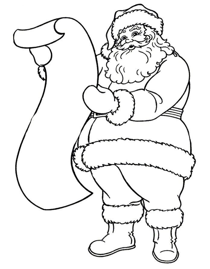 Bộ sưu tập tranh tô màu ông già Noel đẹp nhất
