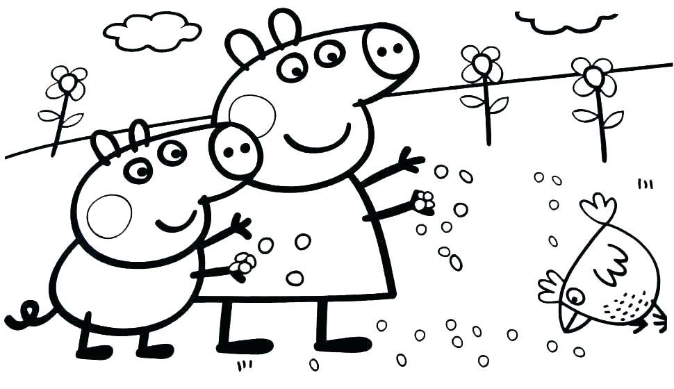Tuyển tập những bức tranh tô màu Peppa Pig đẹp nhất