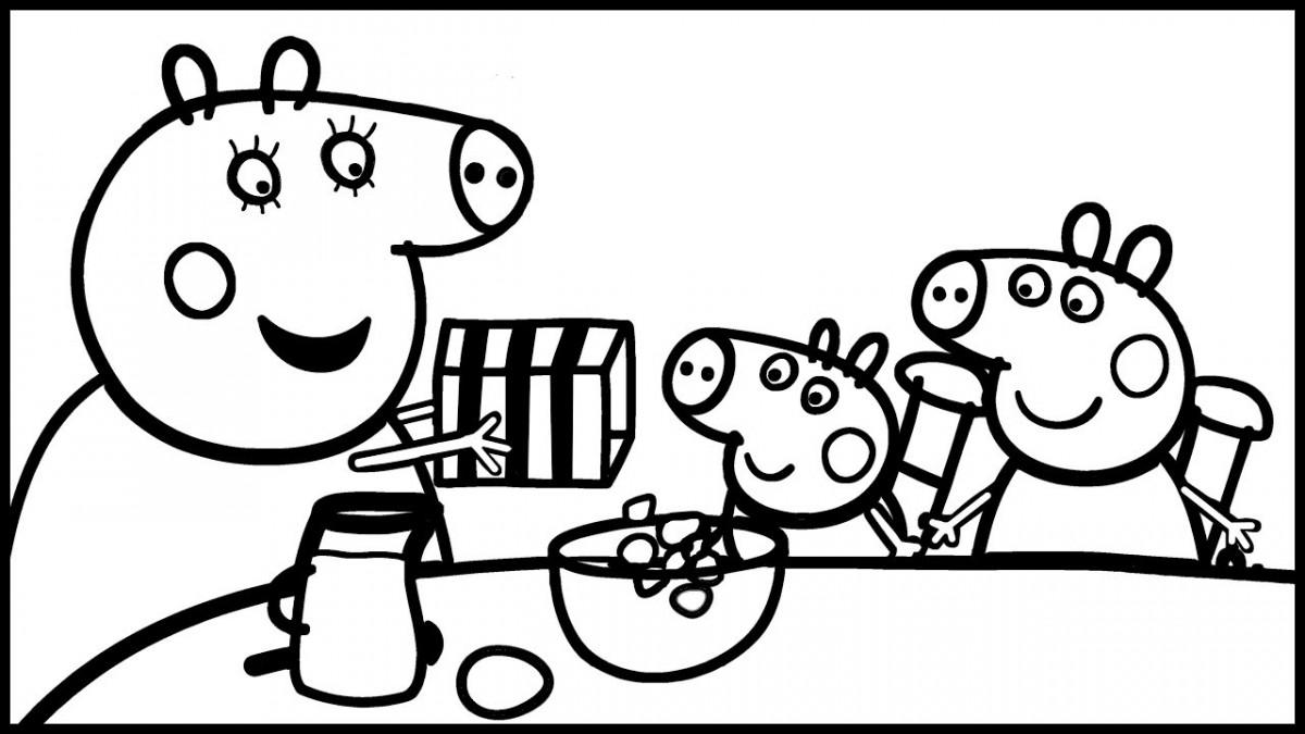 Tuyển tập những bức tranh tô màu Con Heo Peppa Pig đẹp nhất