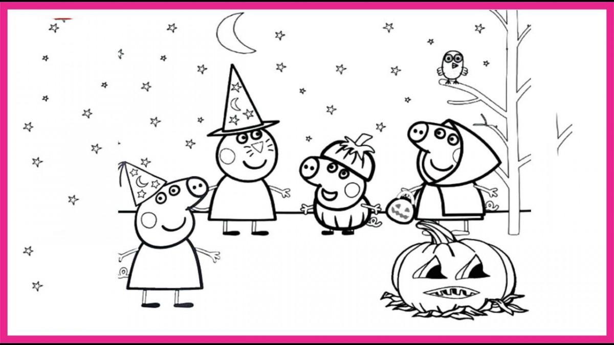 Tổng hợp những bức tranh tô màu con heo Peppa Pig đẹp nhất