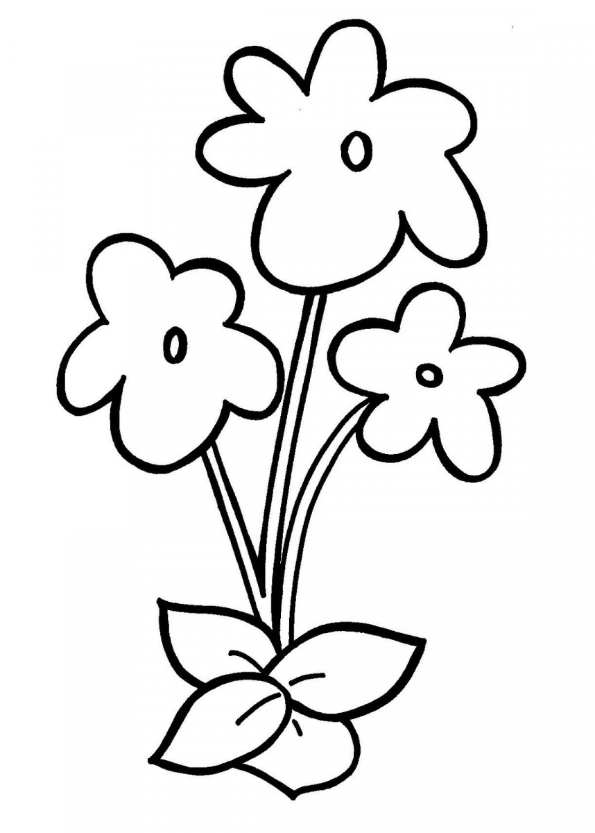 Tổng hợp tranh tô màu cho bé 4 tuổi chủ đề hoa