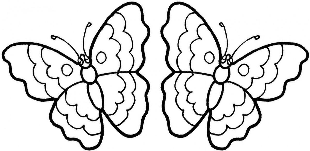 Bộ sưu tập tranh tô màu con bướm cho bé gái