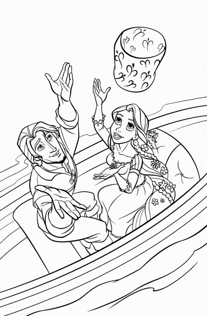 Tuyển tập tranh tô màu công chúa tóc mây đẹp nhất