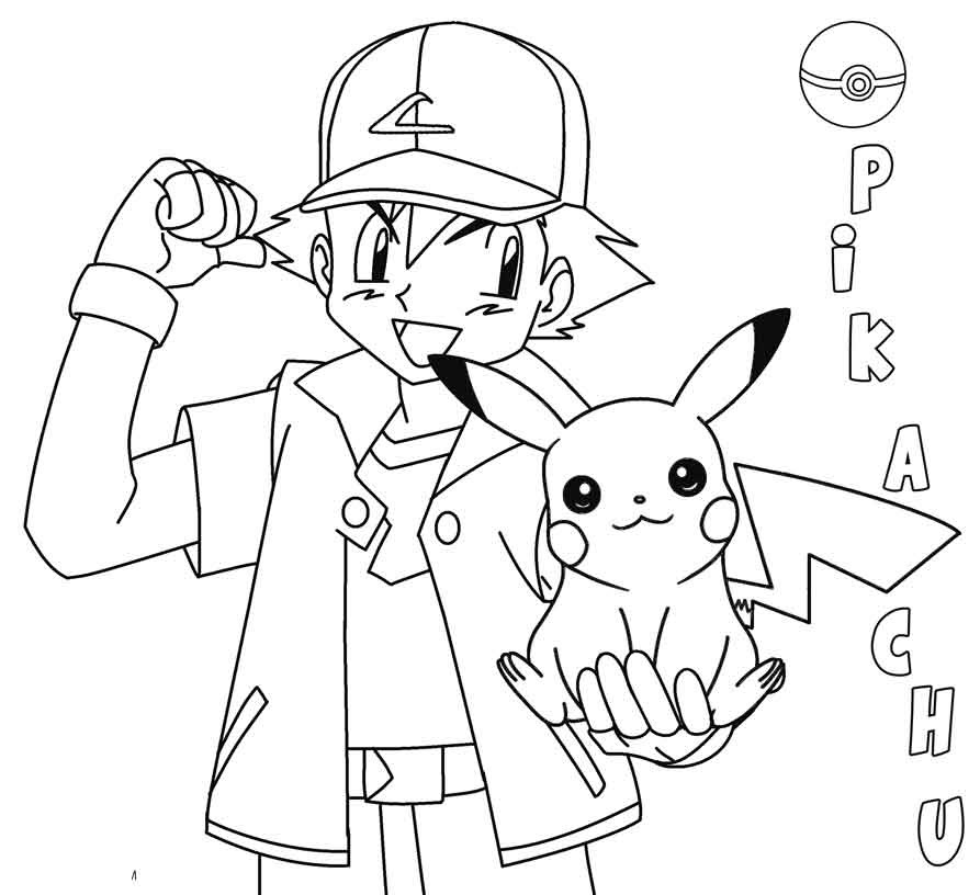 Bộ sưu tập tranh tô màu Pikachu đẹp