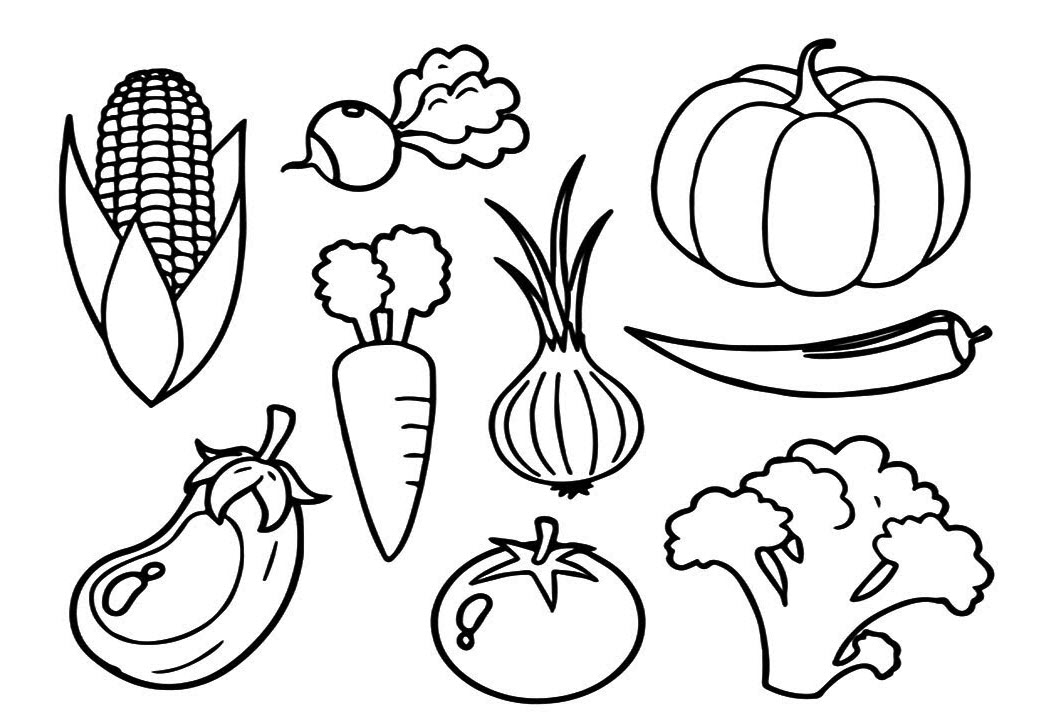 Tổng hợp tranh tô màu các loại trái cây, các loại trái cây đẹp