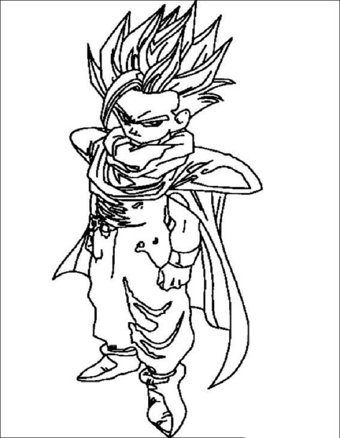 Tuyển tập tranh tô màu Songoku đẹp nhất
