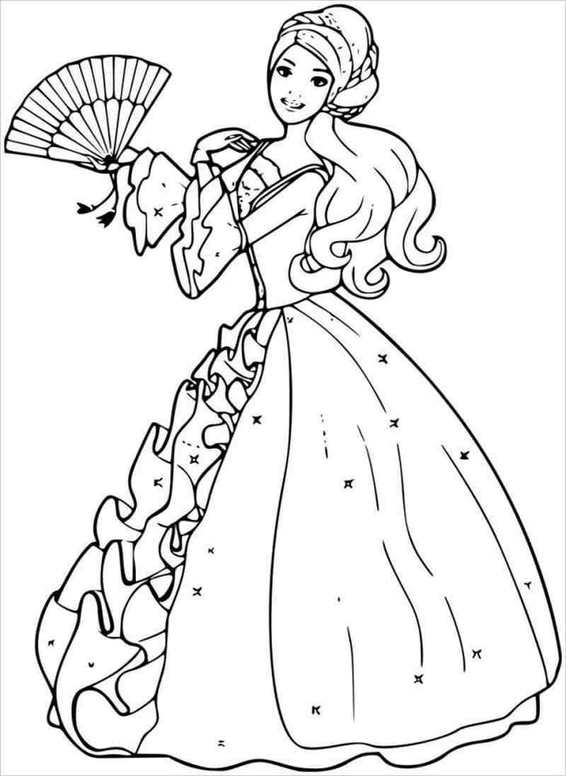 Tuyển tập những tranh tô màu công chúa Barbie đẹp nhất