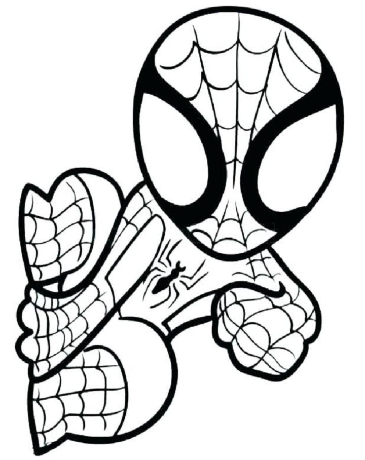 Tổng hợp tranh tô màu người nhện đẹp