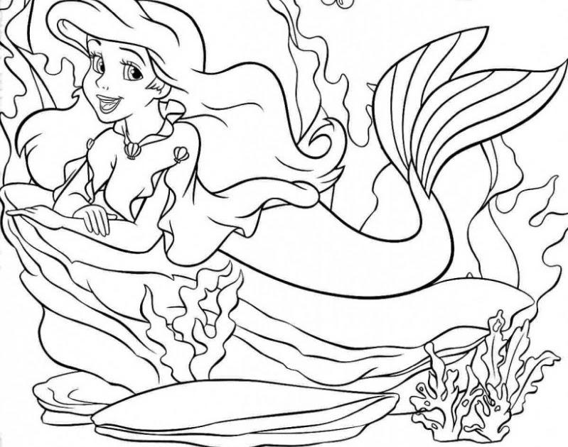 Bộ sưu tập tranh tô màu nàng tiên cá đẹp