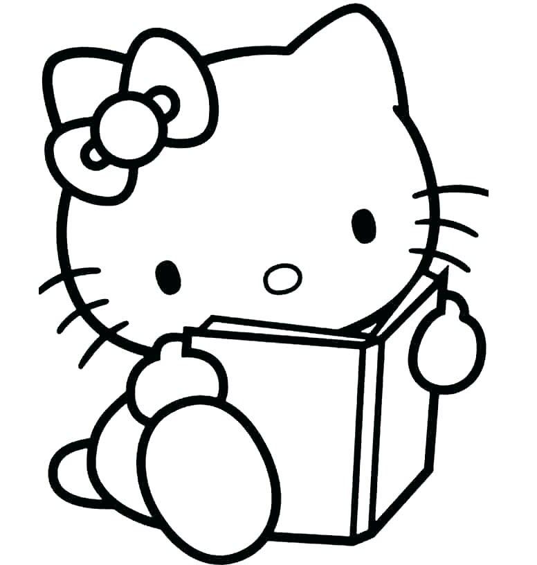 Tổng hợp tranh tô màu hello kitty đẹp