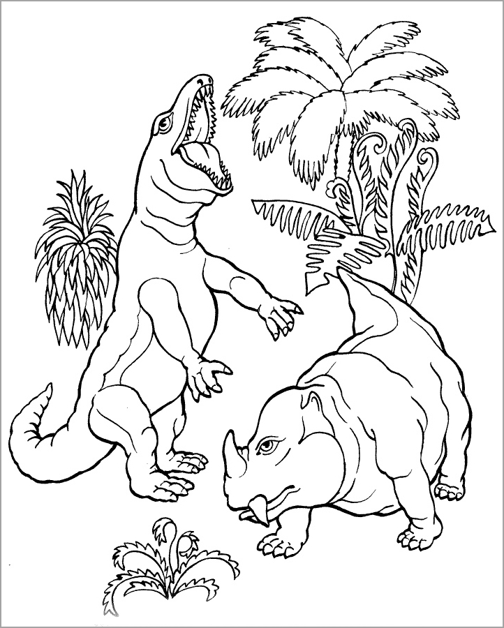 Bộ sưu tập tranh tô màu khủng long đẹp