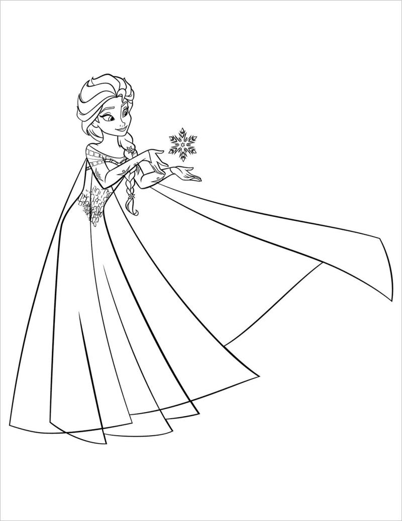 Tuyển tập tranh tô màu công chúa Elsa cực đẹp