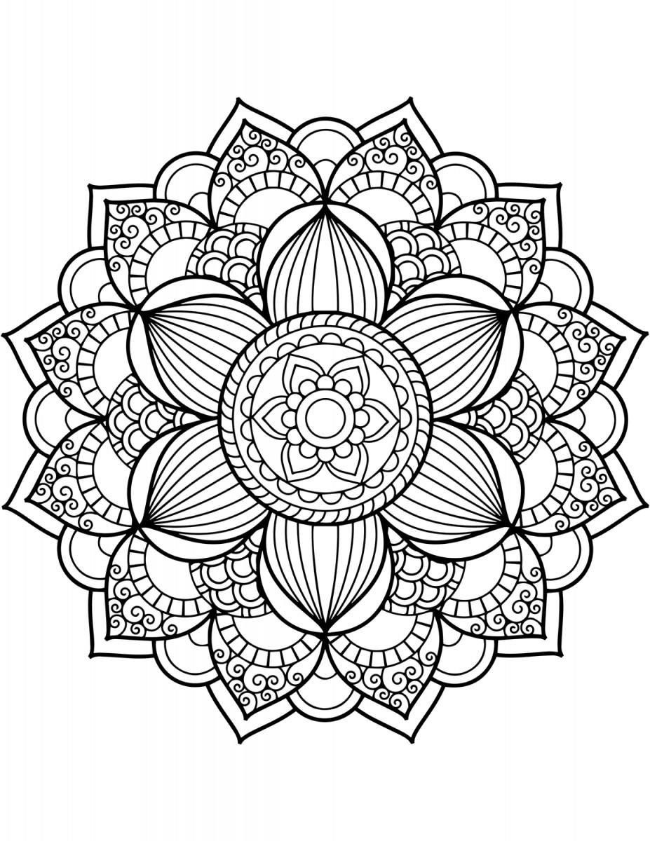 Bộ sưu tập tranh tô màu hoa đẹp