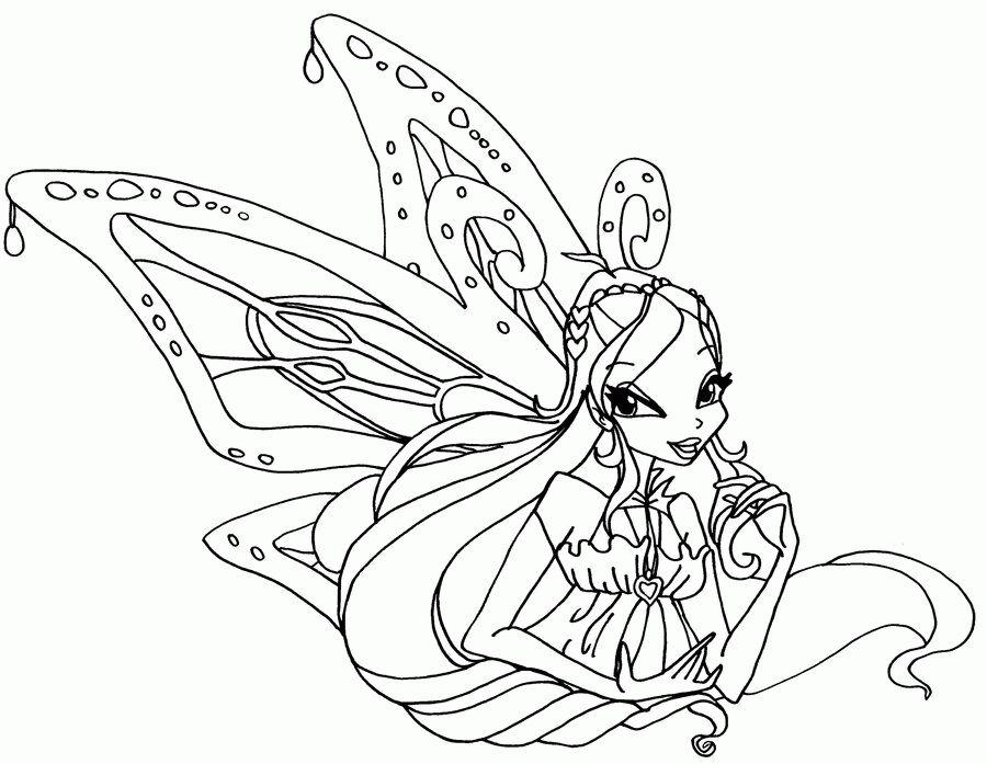 Bộ sưu tập các tranh tô màu công chúa winx hay nhất