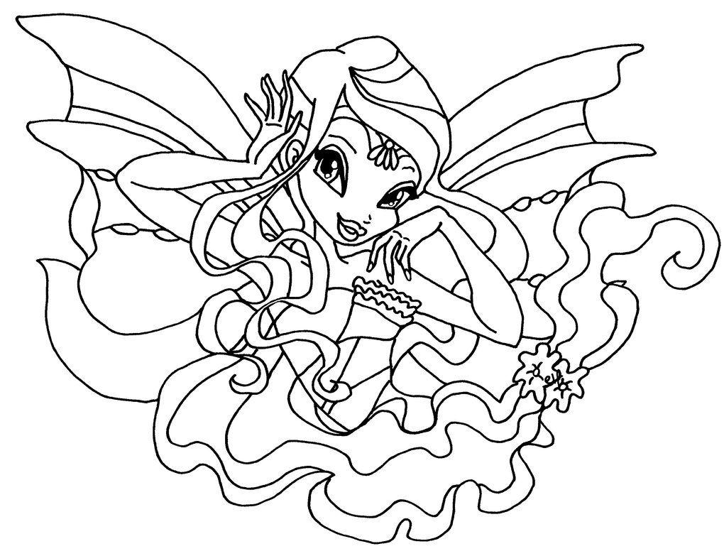 Tuyển tập những tranh tô màu công chúa Winx hay nhất