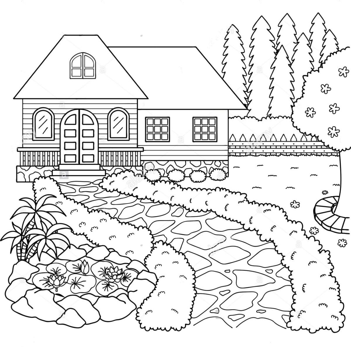 Tuyển tập tranh tô màu ngôi nhà đẹp nhất