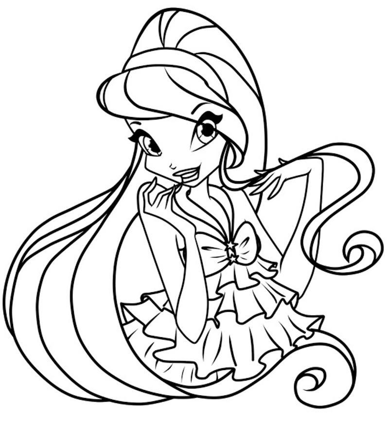 Tuyển tập những tranh tô màu công chúa đẹp