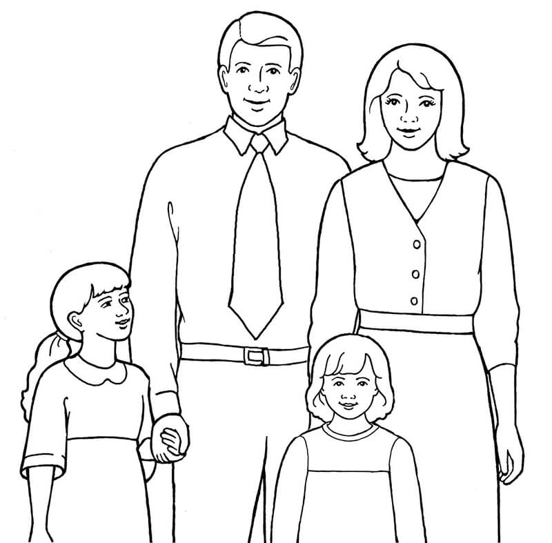 Bộ sưu tập tranh tô màu gia đình đẹp