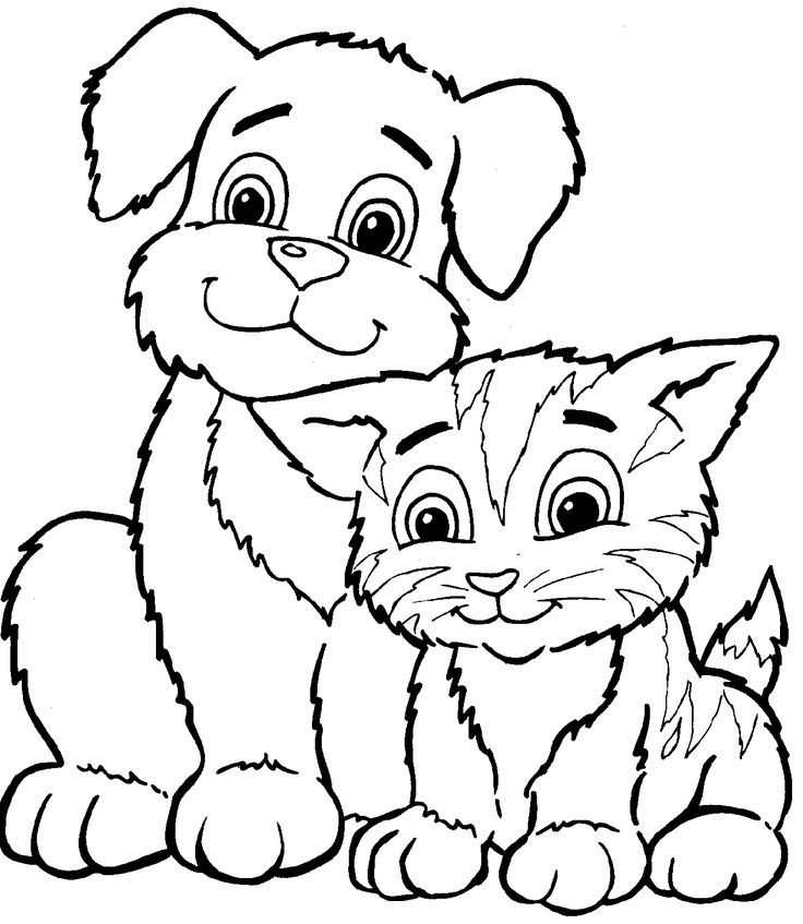Bộ sưu tập tranh tô màu thú cưng trong gia đình