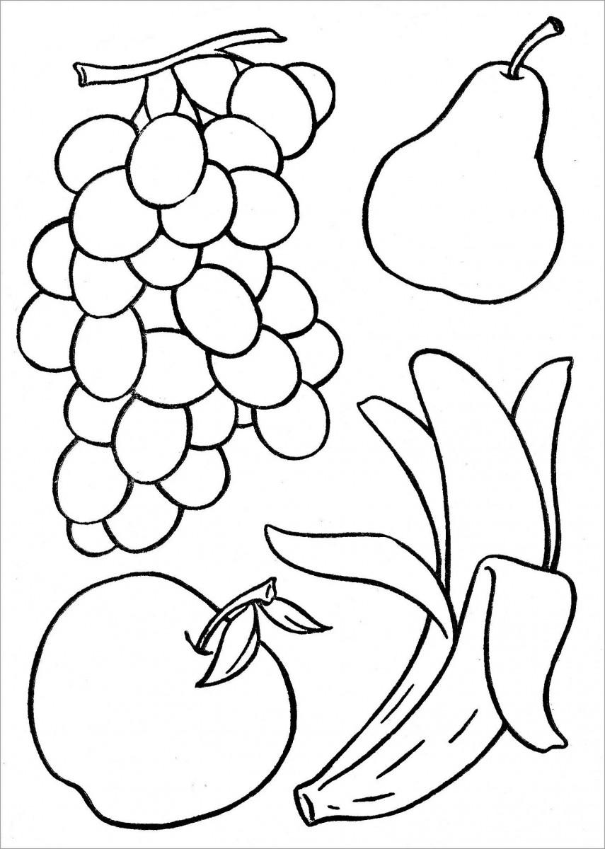 Tổng hợp tranh tô màu hoa quả, các loại hoa quả đẹp
