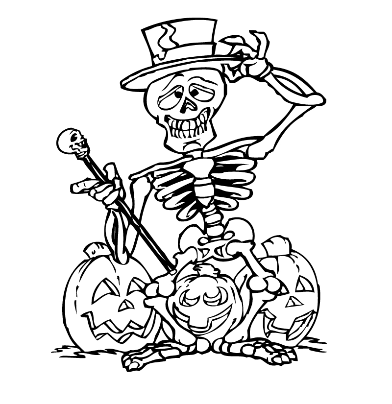 Bộ sưu tập tranh tô màu Halloween cho bé