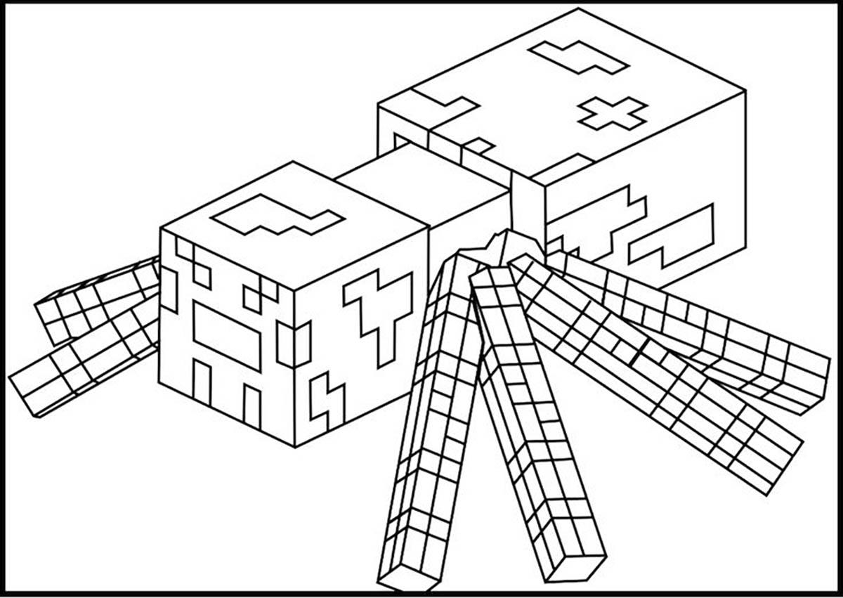 Tuyển tập những bức tranh tô màu Minecraft đẹp nhất dành cho trẻ em