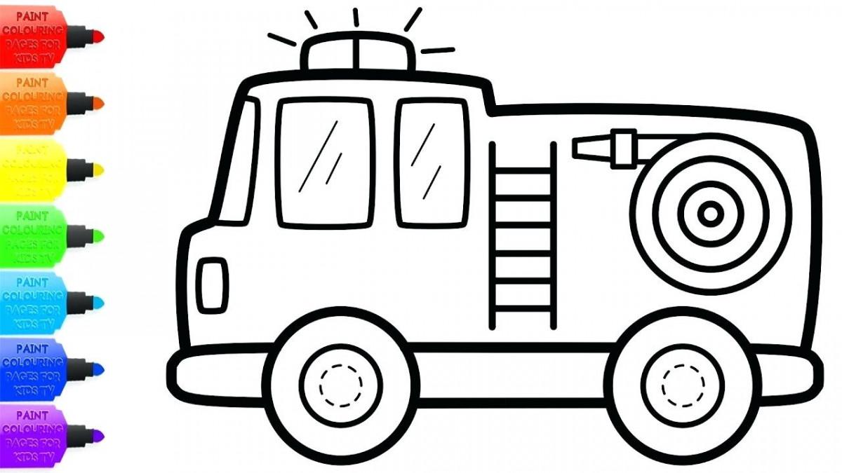 Tuyển tập tranh tô màu ô tô tải đẹp nhất cho bé