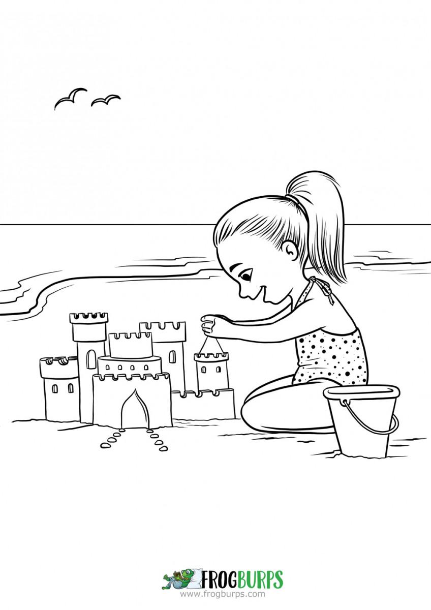 Tổng hợp tranh cát tô màu đẹp nhất cho bé