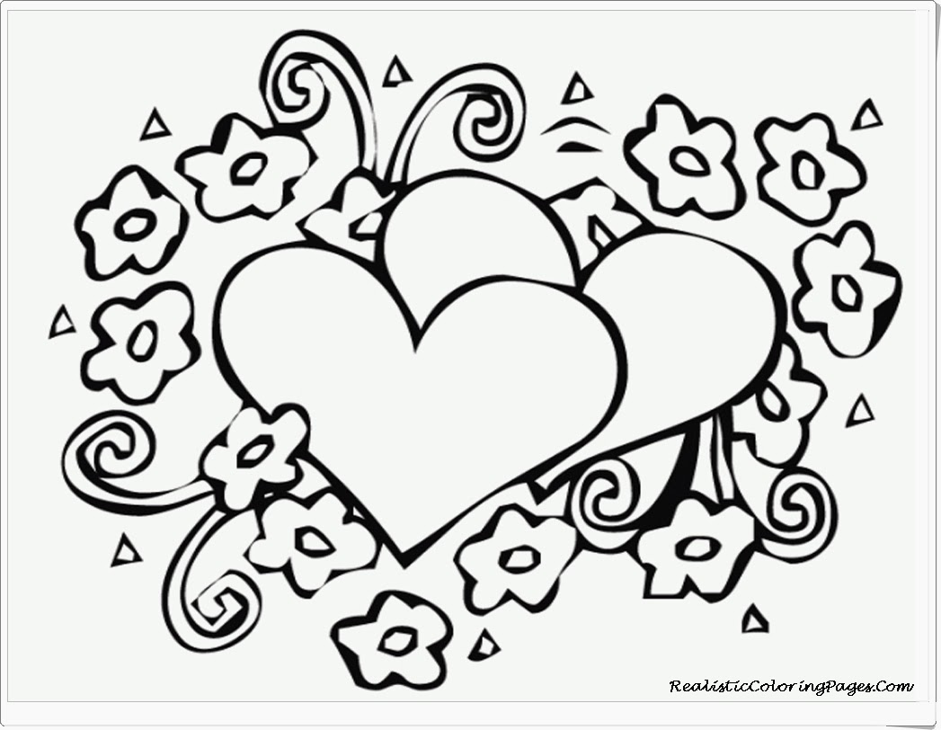 Tuyển tập tranh tô màu hình trái tim đẹp nhất cho bé yêu