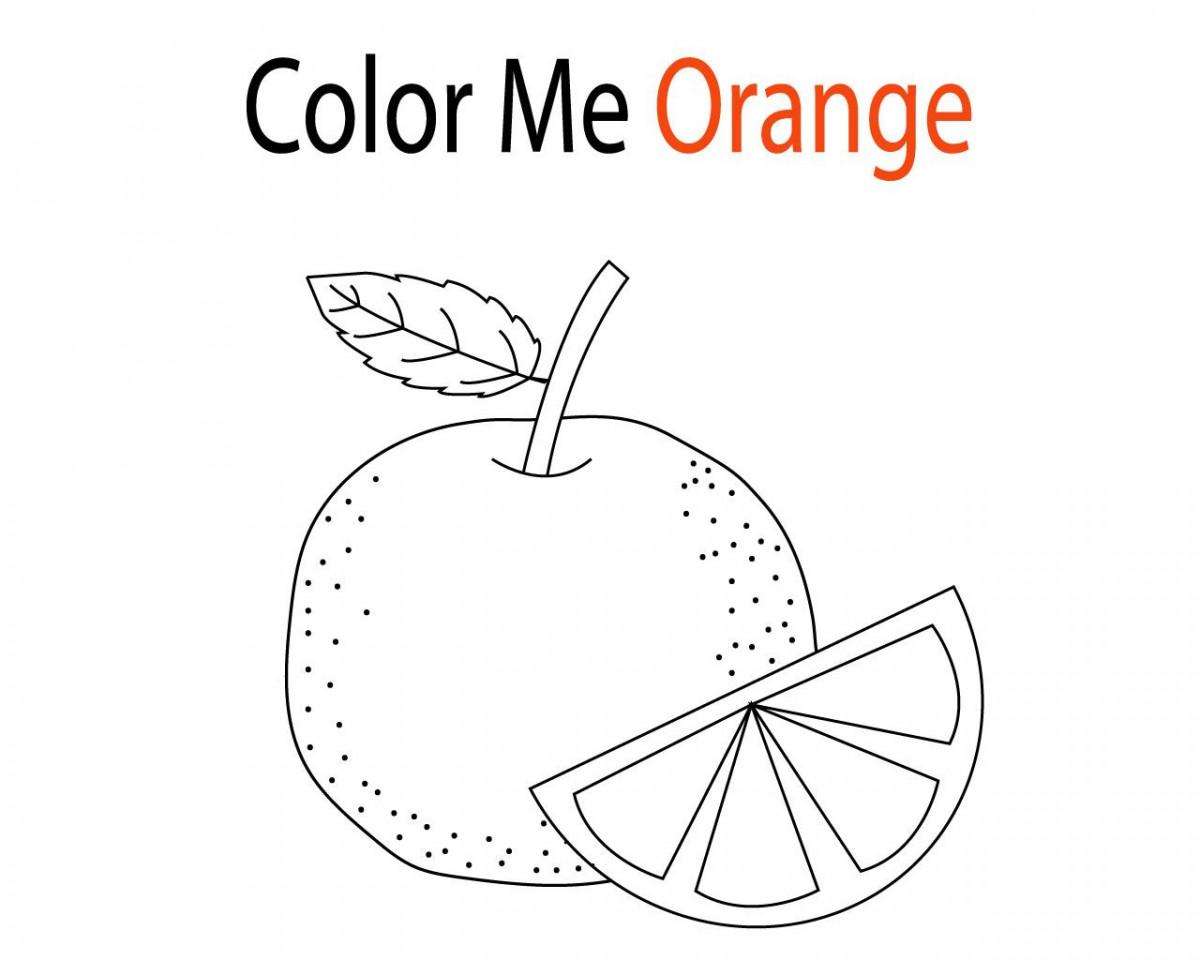 Tuyển tập tranh tô màu quả cam đẹp nhất cho bé 1