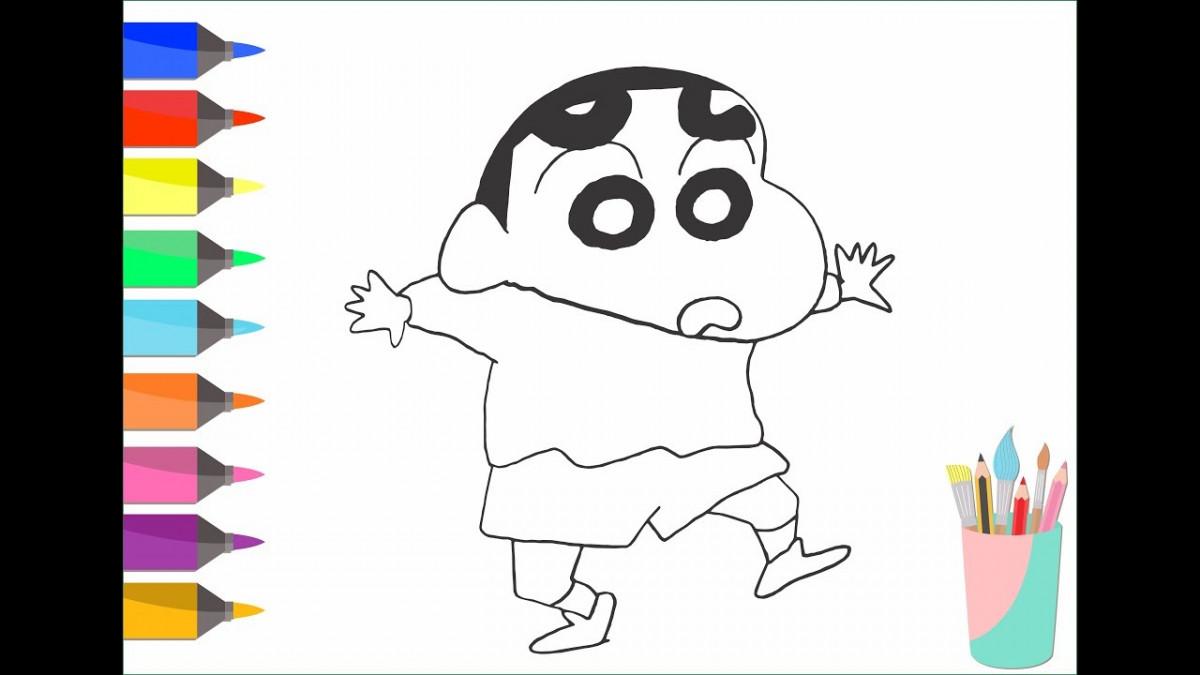 Tổng hợp tranh tô màu cậu bé bút chì Shin