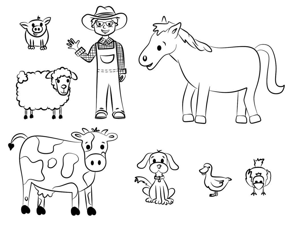 Tổng hợp những bức tranh tô màu bác nông dân đẹp nhất cho bé yêu