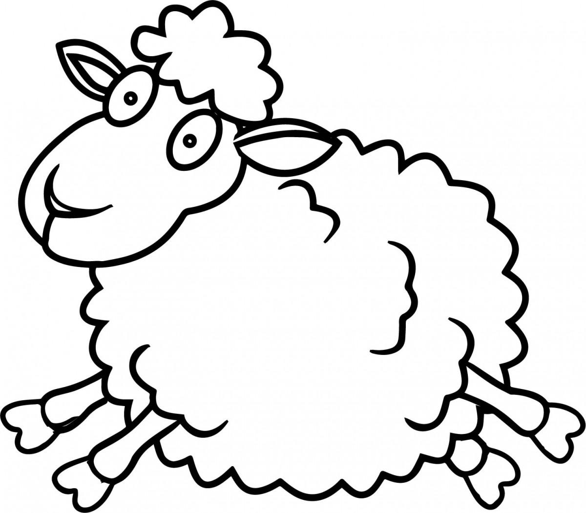 Tổng hợp tranh tô màu chú cừu con đẹp nhất