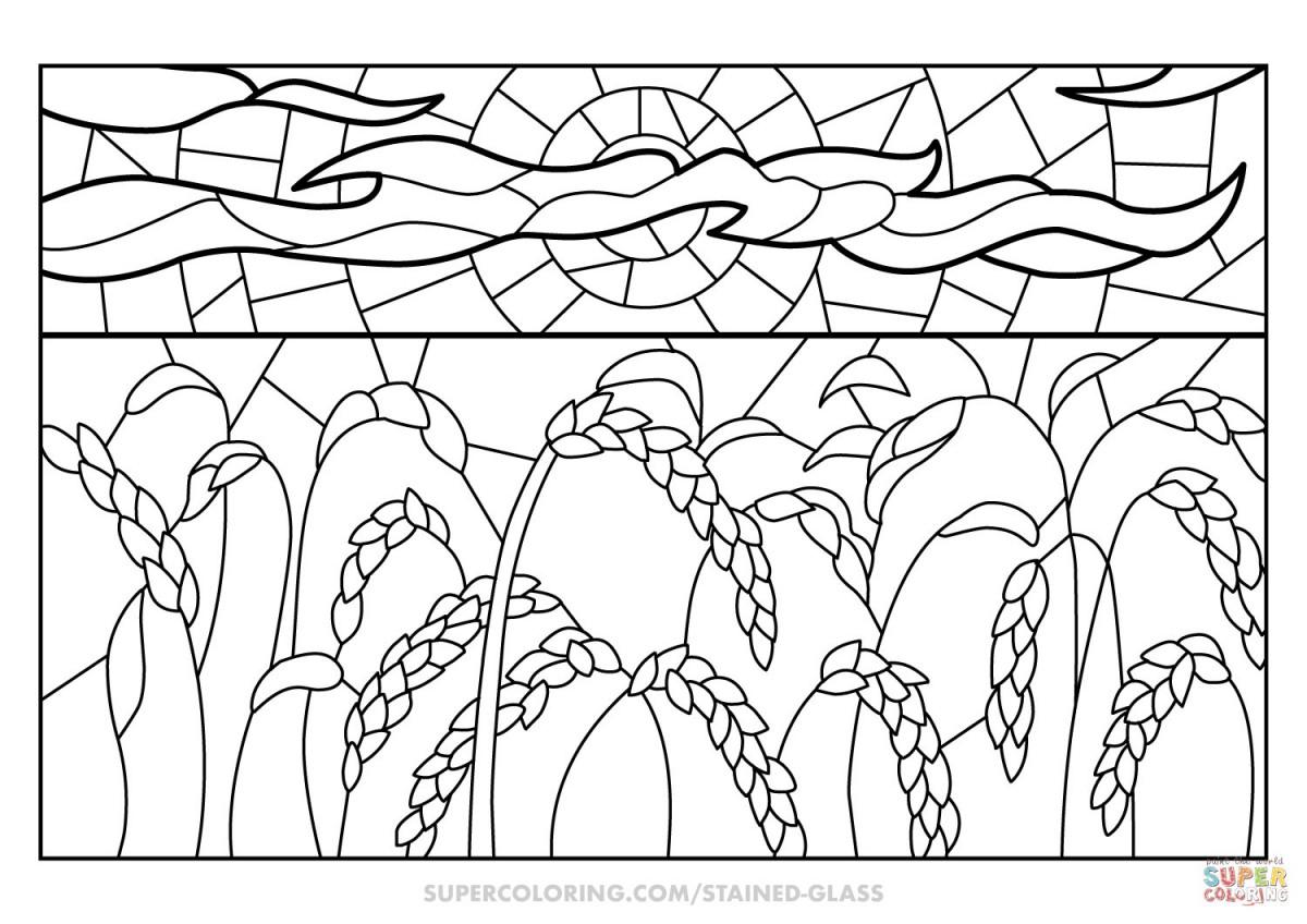 Tổng hợp những bức tranh tô màu cánh đồng lúa đẹp nhất cho bé