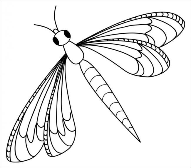Tổng hợp tranh tô màu chuồn chuồn đẹp nhất cho bé yêu