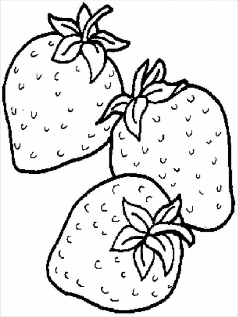 Tổng hợp tranh tô màu quả dâu tây cho bé tập tô