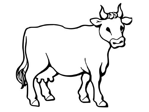 Tổng hợp những bức tranh tô màu con bò đẹp nhất cho bé yêu