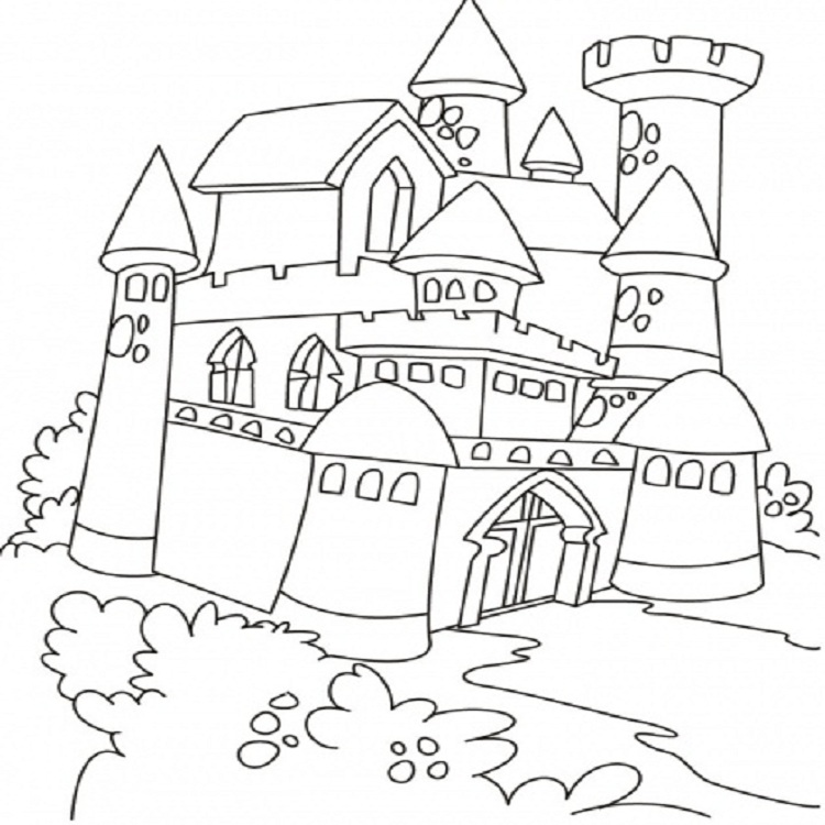 Tuyển tập tranh tô màu lâu đài đẹp nhất cho bé yêu