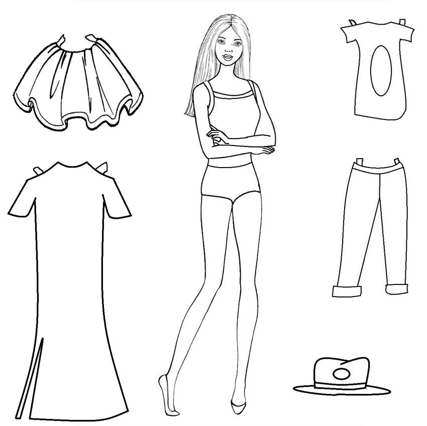 Tổng hợp những bức tranh tô màu quần áo cho bé đẹp nhất