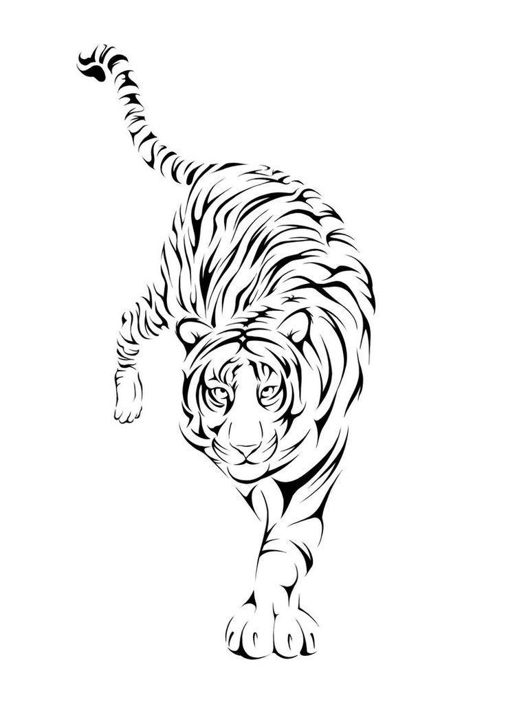 Bộ sưu tập các tranh tô màu con hổ hay nhất