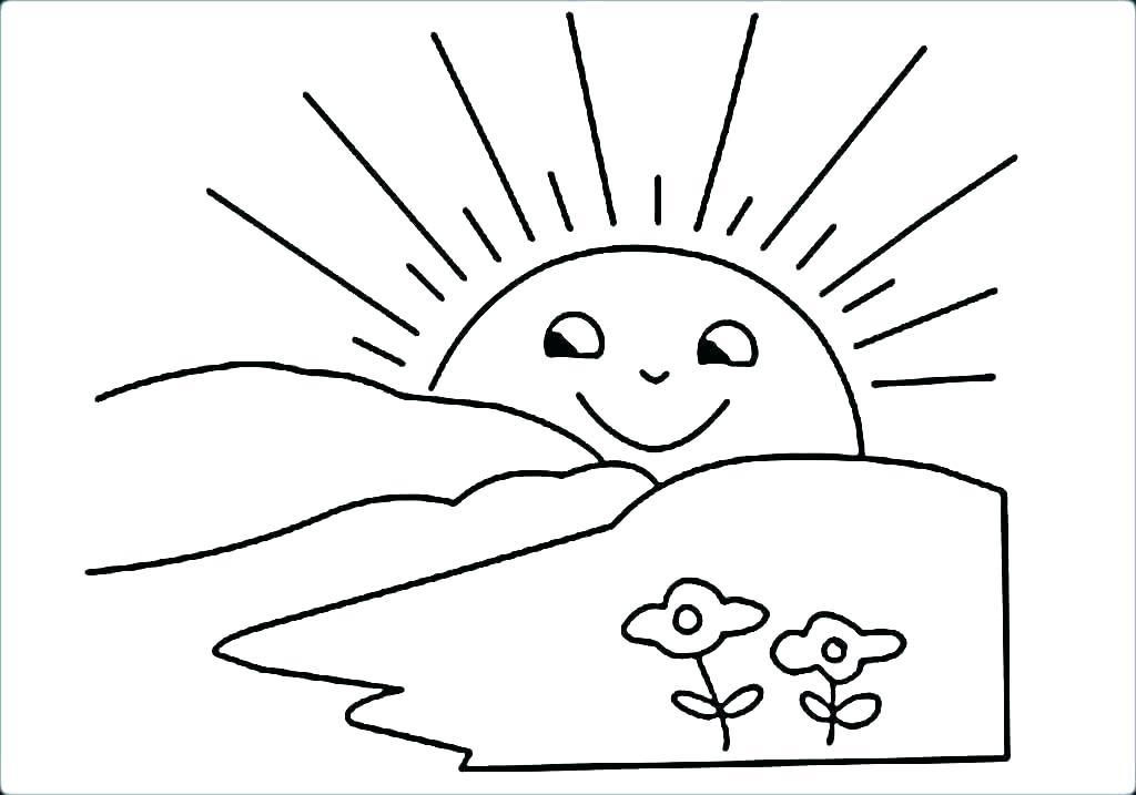 Tổng hợp những bức tranh tô màu đẹp nhất về mặt trời