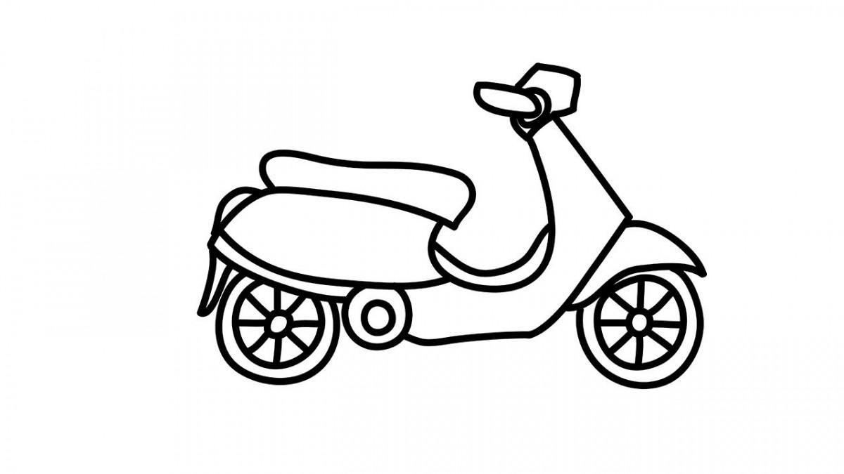 Bộ sưu tập tranh tô màu xe máy đẹp