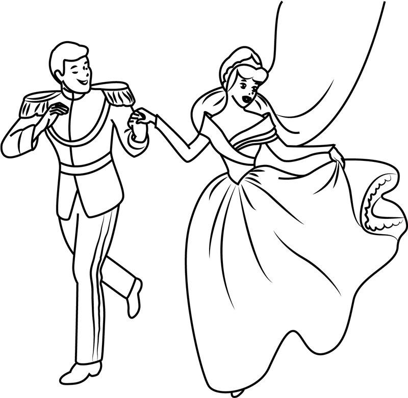 Tuyển tập tranh tô màu công chúa lọ lem cực đẹp