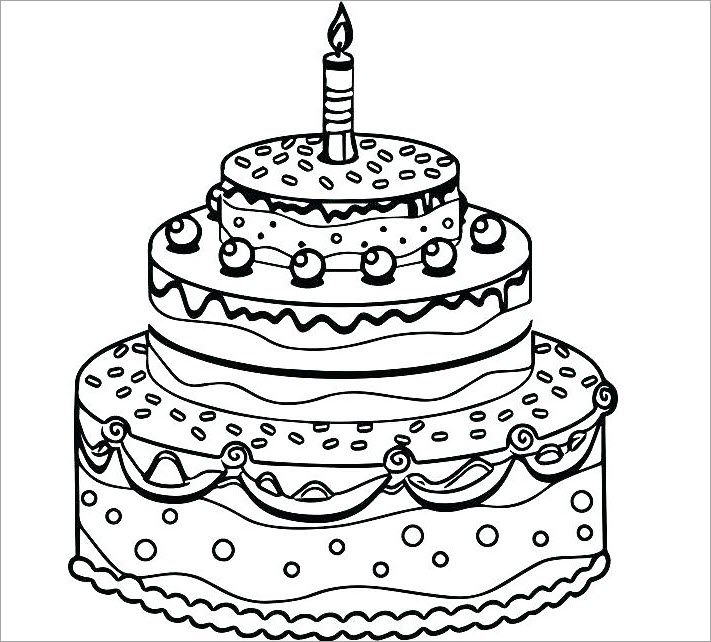 Bộ sưu tập tranh tô màu bánh sinh nhật đẹp