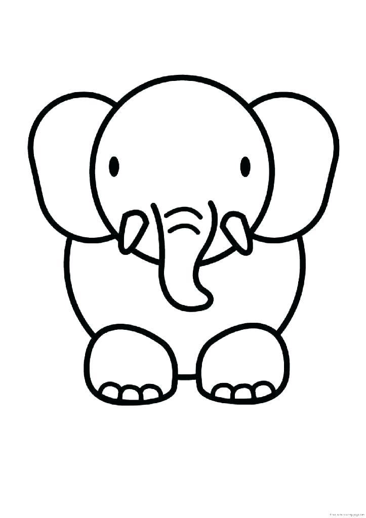 Tuyển tập những bức tranh tô màu con voi đẹp nhất