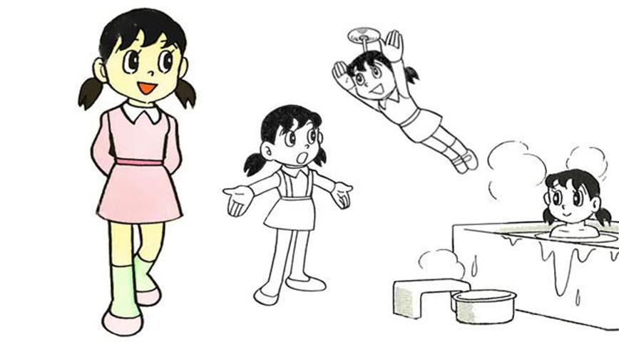Tuyển tập tranh tô màu Shizuka đẹp nhất cho bé