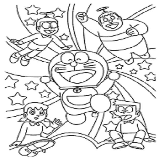 Tuyển tập tranh tô màu Nobita đẹp nhất