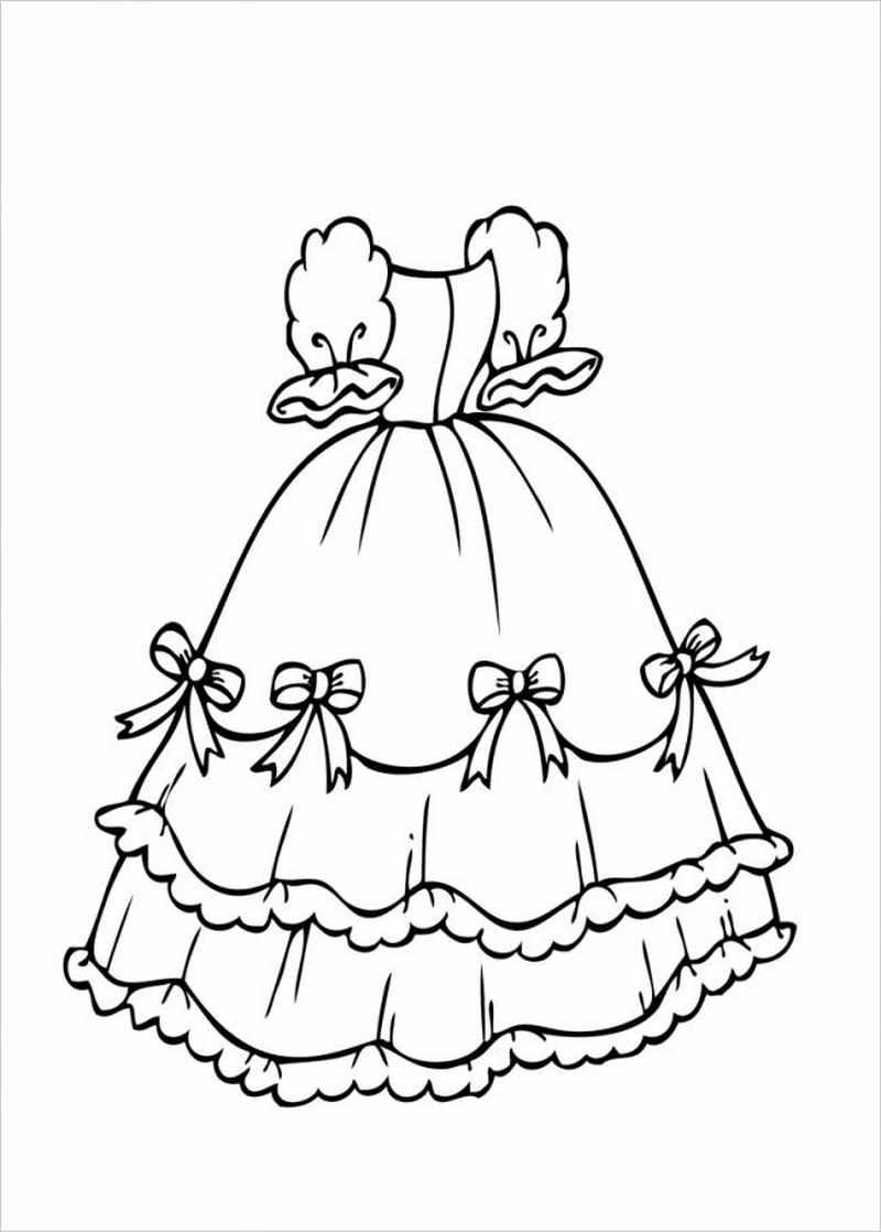 Tổng hợp tranh tô màu váy công chúa đẹp nhất cho bé