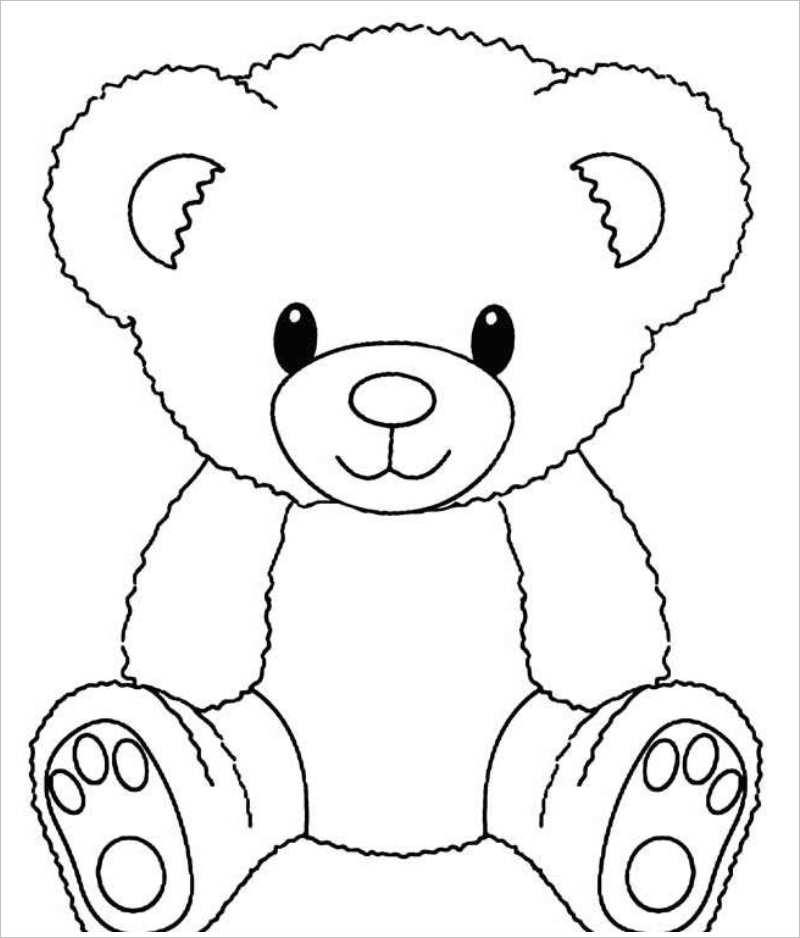 Tổng hợp những bức tranh tô màu đẹp nhất về chú gấu con