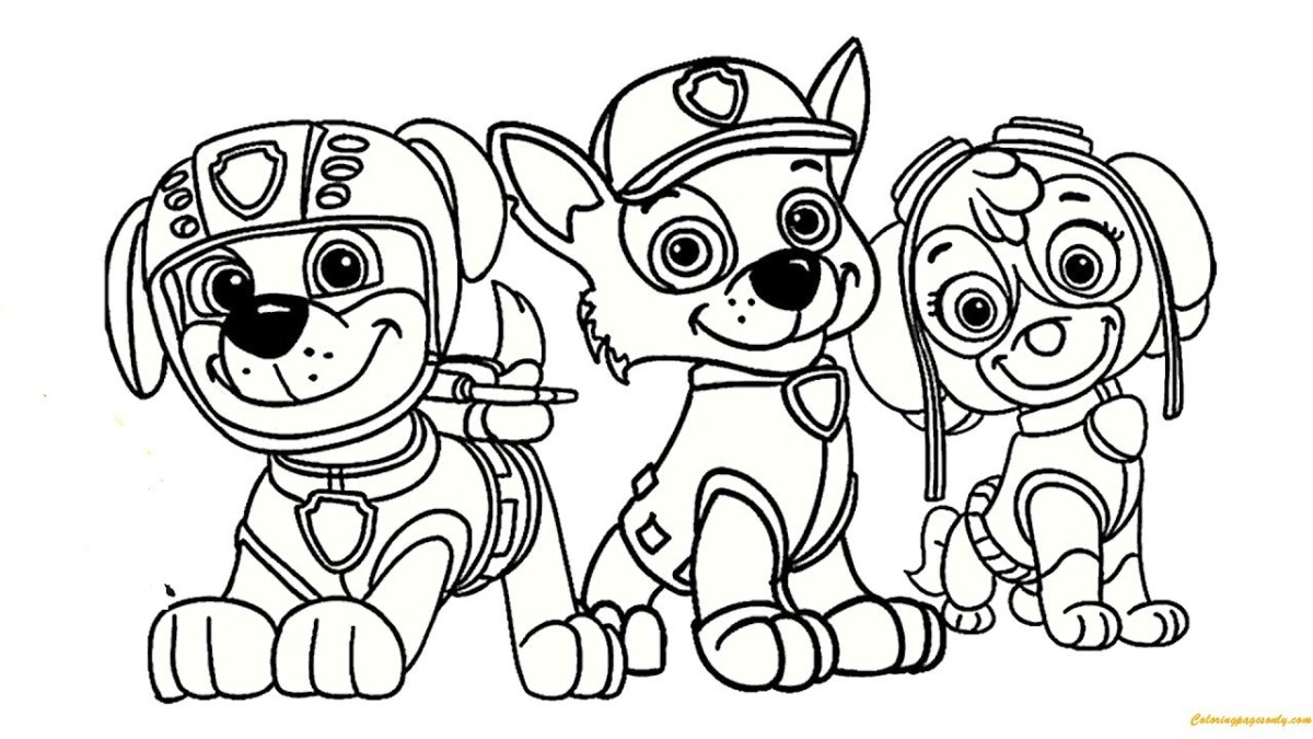 Tổng hợp tranh tô màu chú chó cứu hộ đẹp nhất cho bé yêu